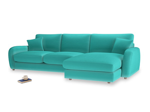 XL Right Hand  Easy Squeeze Chaise Sofa in Fiji Clever Velvet