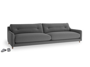 Extra large Slim Jim Sofa in Ash washed cotton linen