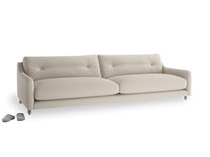 Extra large Slim Jim Sofa in Buff brushed cotton