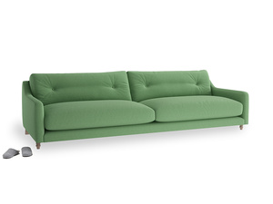 Extra large Slim Jim Sofa in Clean green Brushed Cotton