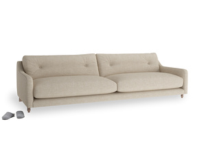 Extra large Slim Jim Sofa in Flagstone clever woolly fabric