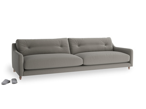 Extra large Slim Jim Sofa in Monsoon grey clever cotton