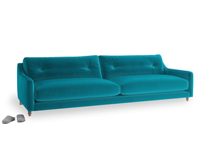 Extra large Slim Jim Sofa in Pacific Clever Velvet