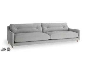 Extra large Slim Jim Sofa in Pewter Clever Softie