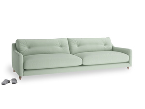 Extra large Slim Jim Sofa in Soft Green Clever Softie
