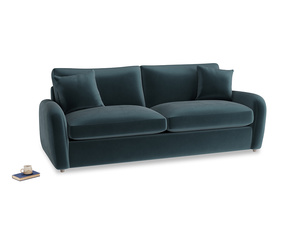Large Easy Squeeze Sofa Bed in Bluey Grey Clever Deep Velvet