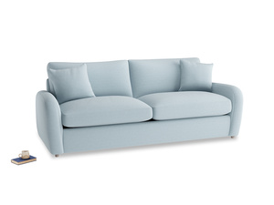 Large Easy Squeeze Sofa Bed in Soothing blue washed cotton linen