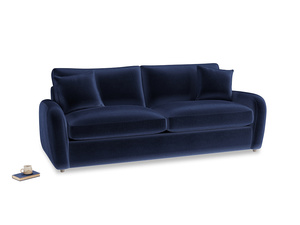 Large Easy Squeeze Sofa Bed in Midnight plush velvet