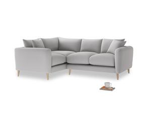 Large Left Hand Squishmeister Corner Sofa in Flint brushed cotton