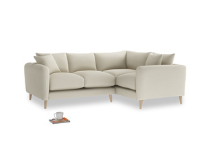Large Right Hand Squishmeister Corner Sofa in Pale rope clever linen