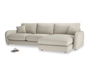 XL Right Hand  Easy Squeeze Chaise Sofa in Thatch house fabric