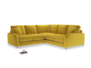 Even Sided Easy Squeeze Corner Sofa in Bumblebee clever velvet