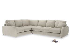 Xl Left Hand Easy Squeeze Corner Sofa in Thatch house fabric