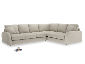 Xl Right Hand Easy Squeeze Corner Sofa in Thatch house fabric