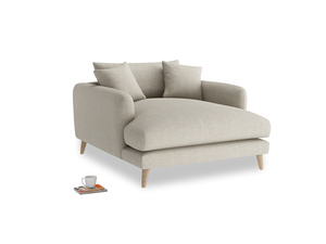 Thatch House Fabric Squishmeister Love Seat Chaise