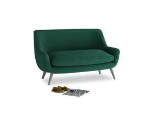 Small Berlin Sofa in Cypress Green Vintage Linen