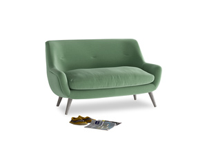 Small Berlin Sofa in Thyme Green Vintage Linen