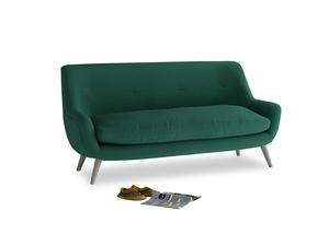 Medium Berlin Sofa in Cypress Green Vintage Linen