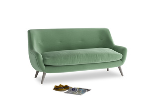 Medium Berlin Sofa in Thyme Green Vintage Linen