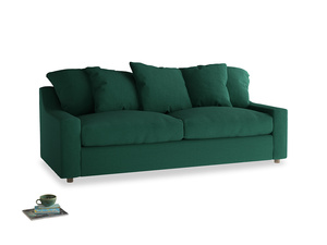 Large Cloud Sofa in Cypress Green Vintage Linen
