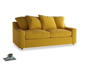 Medium Cloud Sofa in Yellow Ochre Vintage Linen