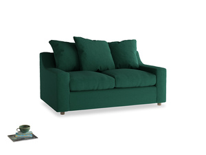 Small Cloud Sofa in Cypress Green Vintage Linen