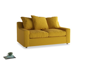 Small Cloud Sofa in Yellow Ochre Vintage Linen