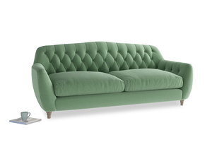 Large Butterbump Sofa in Thyme Green Vintage Linen