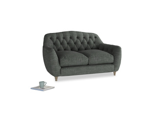 Small Butterbump Sofa in Pencil Grey Clever Laundered Linen