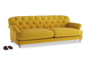 Extra large Truffle Sofa in Yellow Ochre Vintage Linen