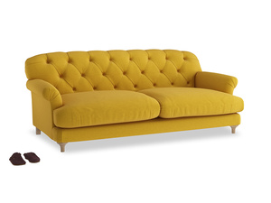 Large Truffle Sofa in Yellow Ochre Vintage Linen