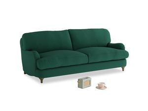 Medium Jonesy Sofa in Cypress Green Vintage Linen
