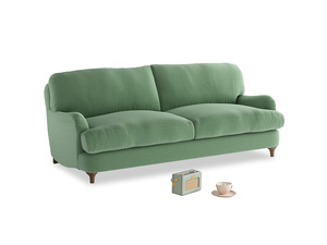 Medium Jonesy Sofa in Thyme Green Vintage Linen