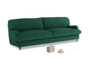 Large Jonesy Sofa in Cypress Green Vintage Linen