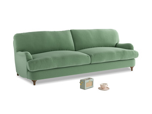 Large Jonesy Sofa in Thyme Green Vintage Linen
