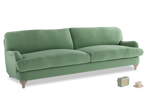 Extra large Jonesy Sofa in Thyme Green Vintage Linen