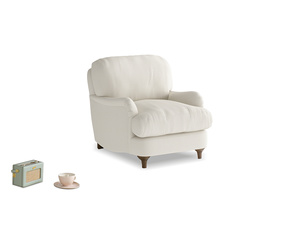 Jonesy Armchair in Chalky White Clever Softie
