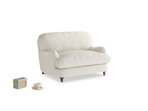 Jonesy Love seat in Chalky White Clever Softie