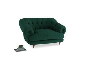 Bagsie Love Seat in Cypress Green Vintage Linen