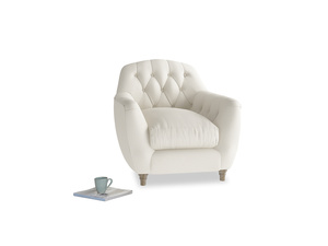 Butterbump Armchair in Chalky White Clever Softie