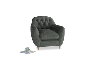 Butterbump Armchair in Pencil Grey Clever Laundered Linen