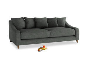 Large Oscar Sofa in Pencil Grey Clever Laundered Linen