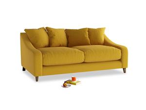 Medium Oscar Sofa in Yellow Ochre Vintage Linen