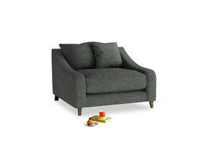 Oscar Love seat in Pencil Grey Clever Laundered Linen