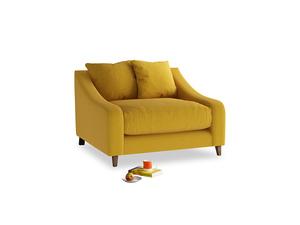 Oscar Love seat in Yellow Ochre Vintage Linen