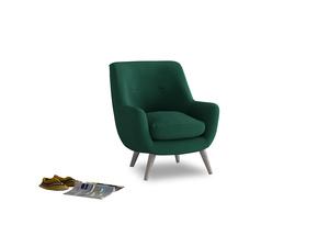 Berlin Armchair in Cypress Green Vintage Linen