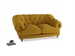 Small Bagsie Sofa in Yellow Ochre Vintage Linen