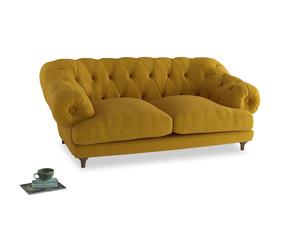 Medium Bagsie Sofa in Yellow Ochre Vintage Linen