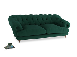 Large Bagsie Sofa in Cypress Green Vintage Linen