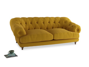 Large Bagsie Sofa in Yellow Ochre Vintage Linen